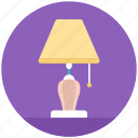 bedside lamp, illumination, lamp, light, table lamp icon