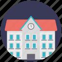college, high school, real estate, school building, university building