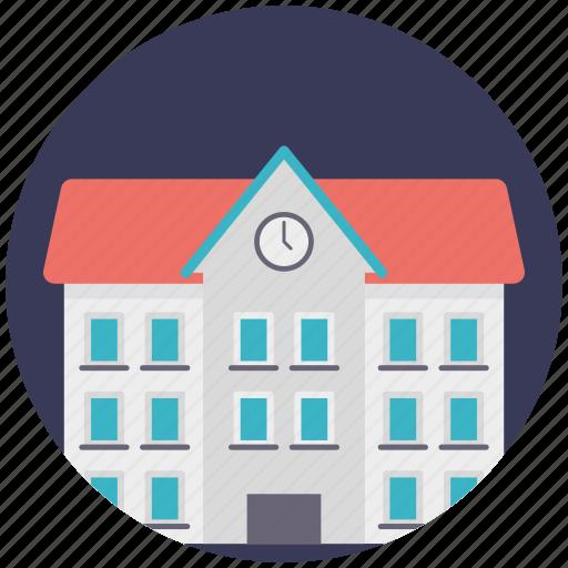 college, high school, real estate, school building, university building icon