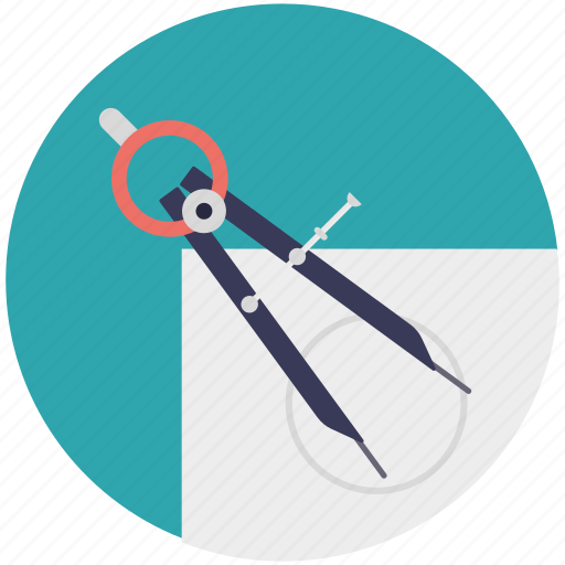 compass, drafting, geometric symbol divider tool, geometry icon