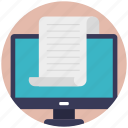 e-document, microsoft document, online archive, online document, online file storage icon