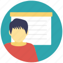 classroom, education, instructor, school, teacher icon