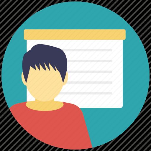 classroom, education, instructor, school, teacher icon
