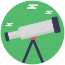 astronomy, spyglass, telescope, vision icon