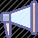 announcement, loud, megaphone, notification, sound, speaker icon