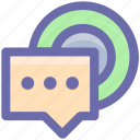 chat, comments, conversion, message, notification, social icon
