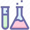 bottle, experiment, flask, health, medical, science icon