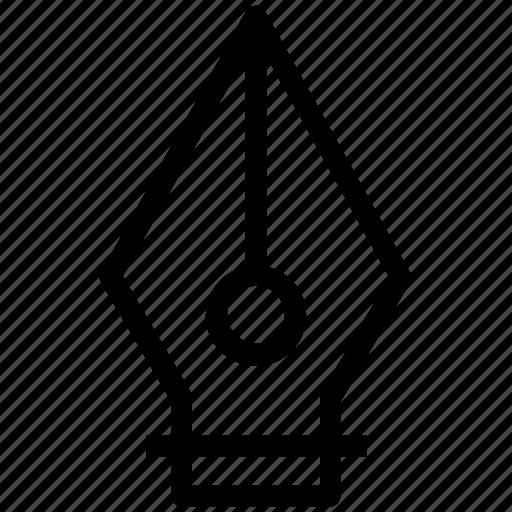 fountain pen, nib, pen nib, stationery, writing icon