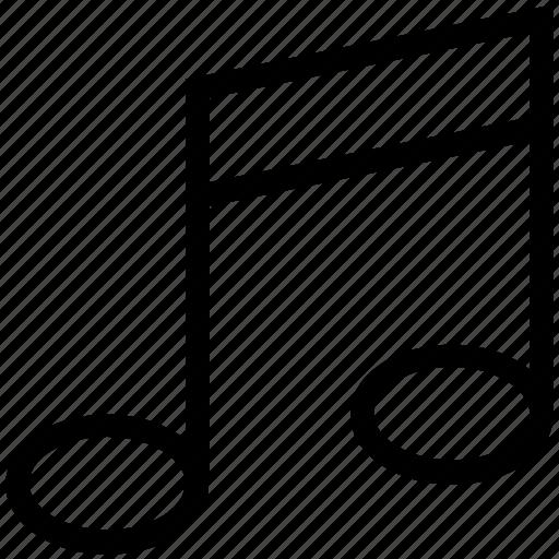 eighth note, music node, music note, music symbol, quaver icon