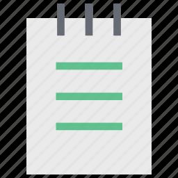 jotter, notebook, notepad, stationery, steno pad, writing, writing pad icon