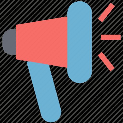 announcement, bullhorn, loud hailer, loud speaker, megaphone, speaking-trumpet icon