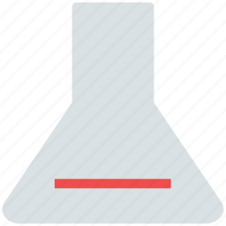 conical flask, elementary flask, flask, lab equipments, lab flask, laboratory icon