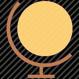 desk globe, desktop globe, globe, globe map, table globe icon