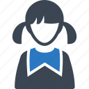 avatar, girl, schoolgirl, student, user icon