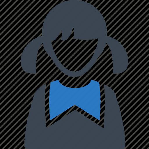 avatar, girl, schoolgirl, student, user icon
