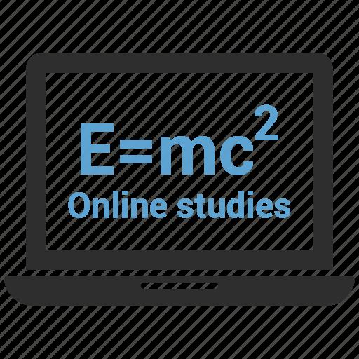 film, laptop, online study, online video, video icon