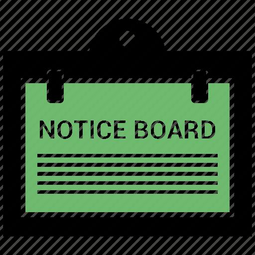 board, notice, noticeboard icon