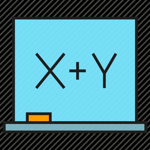 calculate, compute, maths, whiteboard icon