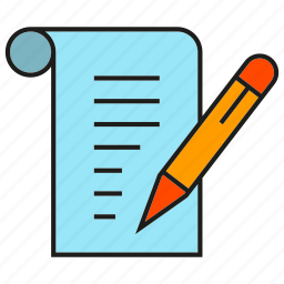 contract, document, paper, pencil, writing icon
