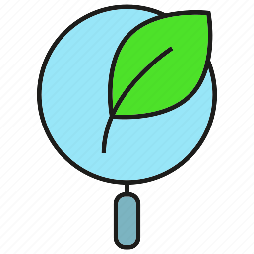 Bio, biology, lab, leaf, magnifier icon - Download on Iconfinder
