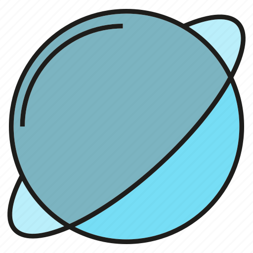 asteroid, astronomy, globe, planet, saturn icon