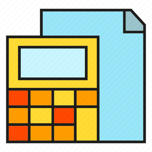 calculator, computer, document, finance, office icon