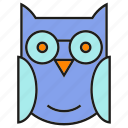bird, owl, wing icon