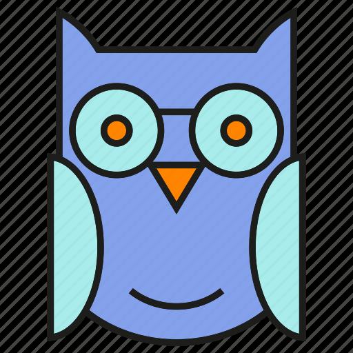 bird, owl, wing icon