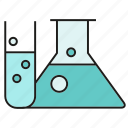 flask, fluid, liquid, science, tube icon