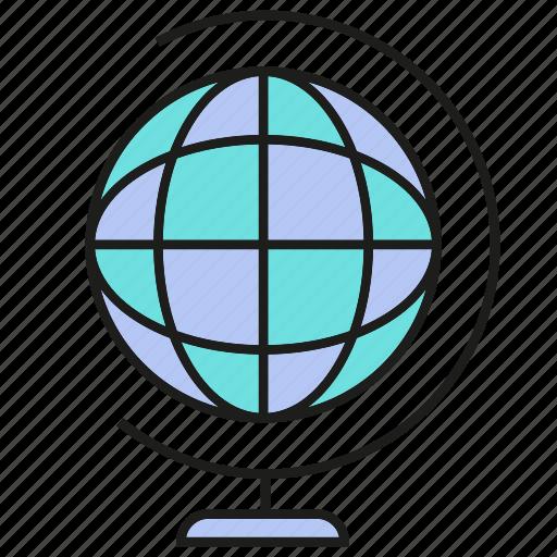 geography, globe, world icon