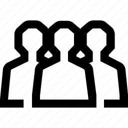 line, mini, people icon