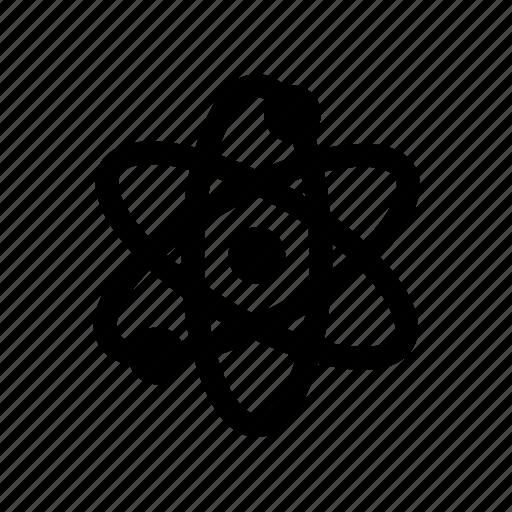atom, education, physics, proton, science icon icon
