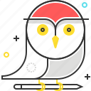 animal, bird, cartoon, education, owl, school, wise icon