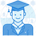 education, graduate, graduation icon