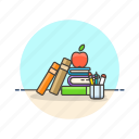 aid, book, break, education, learn, prepare, snack, study icon