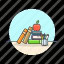 aid, education, book, break, learn, prepare, snack, study icon