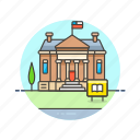 building, education, high, knowledge, learn, school, science, study icon