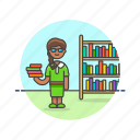 education, highschool, knowledge, learn, library, science, student, study icon