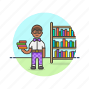 education, highschool, knowledge, learn, man, science, student, study icon