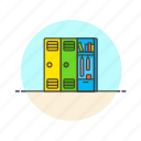 education, knowledge, learn, locker, school, science, study icon