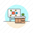 board, classroom, education, knowledge, learn, mindmap, science, study icon