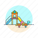 education, horse, kindergarten, playground, preschool, toy icon