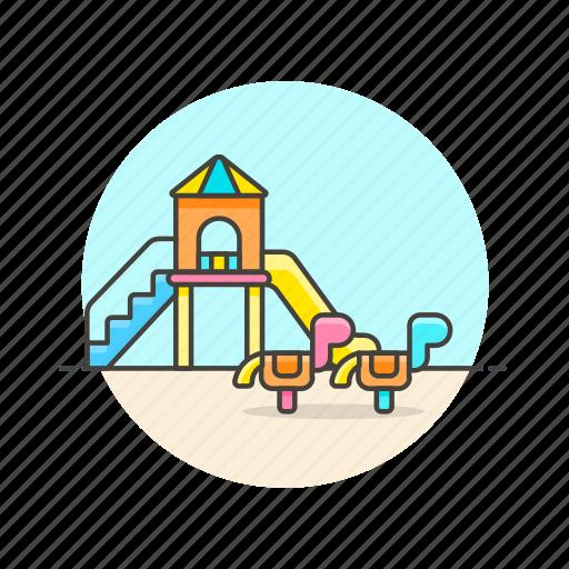 education, horse, kindergarten, playground, preschool, toy icon