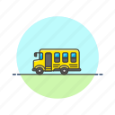 bus, education, school, student, transport, vehicle icon