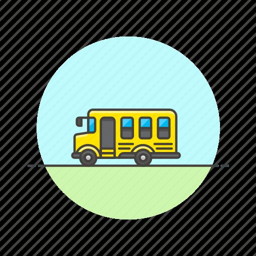 bus, education, school, student, transport, vehicle icon