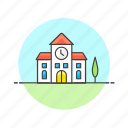 clock, education, knowledge, learn, school, science, study, time icon