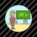 chalkboard, education, teacher icon