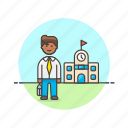 education, knowledge, learn, man, school, science, study, teacher icon