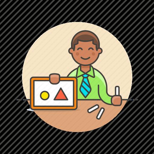 board, education, knowledge, learn, man, science, study, teacher icon