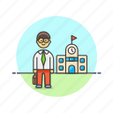 asian, education, male, teacher icon